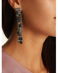 Lanvin - Multicolor Crystal-drop Clip On Earrings - Lyst