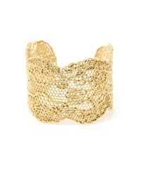 Aurelie Bidermann | Metallic Gold-Plated Vintage Lace Cuff | Lyst