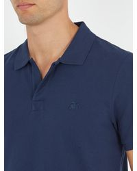 Vilebrequin - Blue Logo-embroidered Cotton-piqué Polo Shirt for Men - Lyst