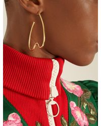 Simone Rocha - Metallic Tooth Large Gold-plated Earrings - Lyst