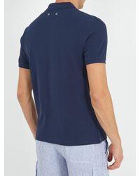 Vilebrequin - Blue Logo-embroidered Cotton-piqué Polo Shirt for Men - Lyst