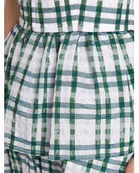 Rosie Assoulin - Green Boogie Woogie Checked-seersucker Dress - Lyst