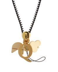 Chaos - Metallic Q Gold-plated Charm - Lyst