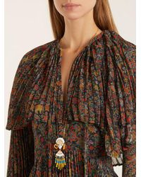 Etro - Yellow Bead And Crystal-embellished Necklace - Lyst