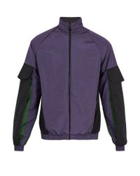 Cottweiler - Purple Contrast-panel Track Jacket for Men - Lyst