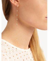 Anissa Kermiche - Metallic Diamond, Pearl & Yellow-gold Earring - Lyst
