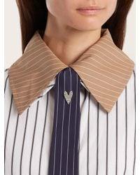 Sonia Rykiel - Metallic Heart Crystal-embellished Pin Brooch - Lyst