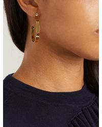 Isabel Marant - Red Sims Stone-embellished Hoop Earrings - Lyst