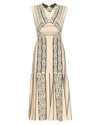 Peter Pilotto - Natural Indix V-neck Jersey Dress - Lyst