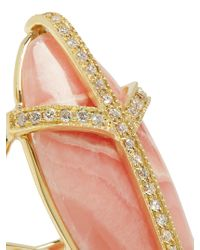Jacquie Aiche - Metallic Diamond, Rhodochrosite & Yellow-gold Ring - Lyst