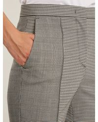 MSGM - Gray Hound's-tooth Checked Slim-leg Trousers - Lyst