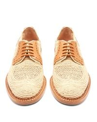 Robert Clergerie - Multicolor Jeanine Lace-up Raffia Shoes - Lyst