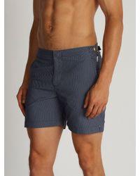 Orlebar Brown - Blue Bulldog Jacquard Swim Shorts for Men - Lyst