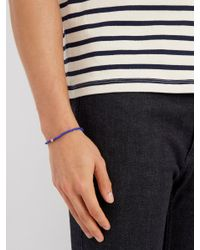 Luis Morais - Blue Bead, Enamel And Yellow-gold Bracelet for Men - Lyst