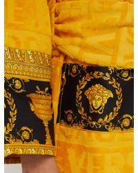Versace Metallic I Love Baroque Logo Jacquard Cotton Bathrobe for men