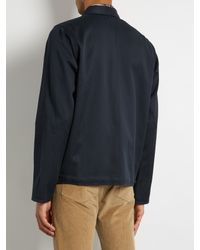A.P.C. - Blue Cotton-blend Field Jacket for Men - Lyst