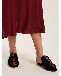 Sanayi 313 - Multicolor Cartellate Velvet Slipper Shoes - Lyst