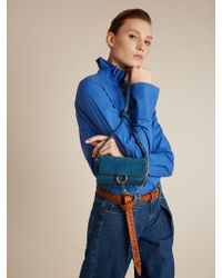 Chloé - Blue Faye Mini Leather And Suede Cross-body Bag - Lyst