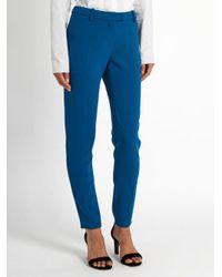 Altuzarra - Blue Henri Slim-leg Crepe Trousers - Lyst