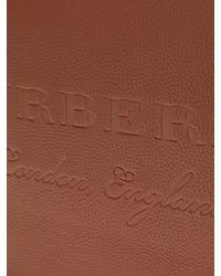 Burberry - Brown Logo-debossed Leather Document Holder for Men - Lyst