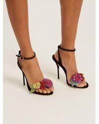 Sophia Webster - Black Lilico Crystal-embellished Suede Sandals - Lyst