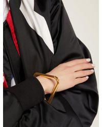 Balenciaga - Metallic Triangle Bracelet - Lyst