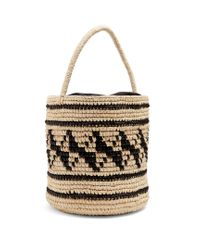 Sensi Studio | Black Geometric-woven Toquilla-straw Basket Bag | Lyst