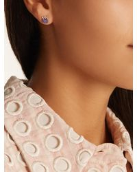 Jacquie Aiche - Multicolor Diamond, Tanzanite & Yellow-gold Earring - Lyst