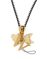 Chaos - Metallic W Gold-plated Charm - Lyst