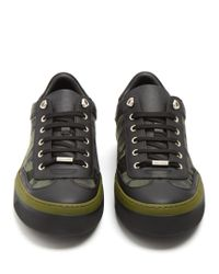Jimmy Choo - Black Ace Camouflage-print Low-top Trainers for Men - Lyst