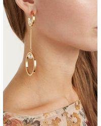 Chloé - Metallic Darcey Pearl-embellished Drop Earrings - Lyst