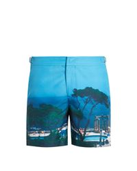 Orlebar Brown - Blue Bulldog Photographic Mid-length Swim Shorts for Men - Lyst