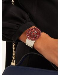 Givenchy - Red Crystal-embellished Cuff - Lyst