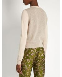 Giambattista Valli - Blue Mohair And Wool-blend Contrast-knit Sweater - Lyst