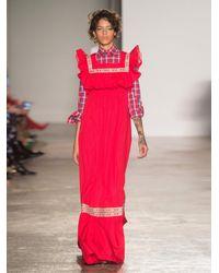 Stella Jean - Embroidered Cotton-poplin Maxi Dress - Lyst