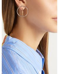 Charlotte Chesnais - Metallic Saturn Vermeil & Silver Earrings - Lyst