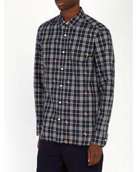 Burberry - Multicolor Edward Fil Coupé Checked Cotton Shirt for Men - Lyst