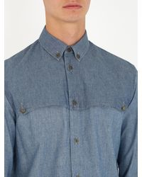 Maison Margiela - Blue Single-cuff Front-yoke Cotton Shirt for Men - Lyst