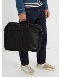 Porter - Black Tanker Nylon Holdall for Men - Lyst