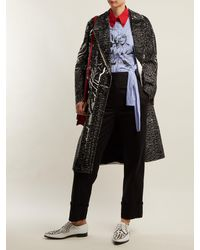 Prada - Black Tailored Straight Leg Cotton Trousers - Lyst