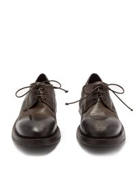 Marsèll - Brown Cetriolo Leather Derby Shoes for Men - Lyst