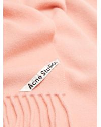 Acne - Pink Canada Fringed Wool Scarf for Men - Lyst