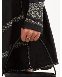 Aurelie Bidermann - Green Chivor 18kt Gold And Emerald Ring - Lyst