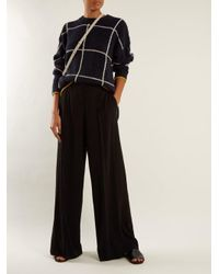 Elizabeth and James - Black Yuli High-rise Wide-leg Stretch-crepe Trousers - Lyst