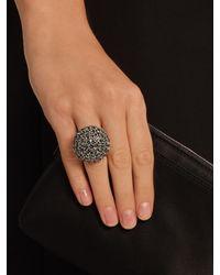 Oscar de la Renta - Blue Crystal-embellished Dome Ring - Lyst