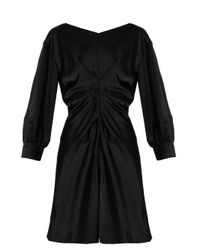 Isabel Marant - Black Rad Pleated-front Satin Dress - Lyst