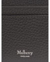 Mulberry - Black Grained-leather Card Holder - Lyst