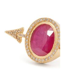 Jade Jagger - Red Diamond, Ruby & Yellow-gold Ring - Lyst