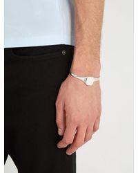 Maison Margiela - Metallic Faded Metal Open Bracelet for Men - Lyst