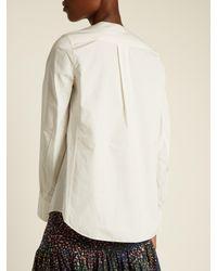 Chloé | Multicolor Double-breasted Cotton-poplin Top | Lyst